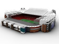 manchester united old trafford 3d model