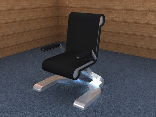 free modern office chair 3d model