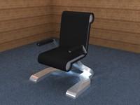 free modern office chair 3d model