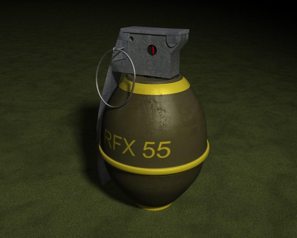 hand grenade 3d 3ds