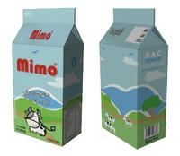 caixa leite 3d model
