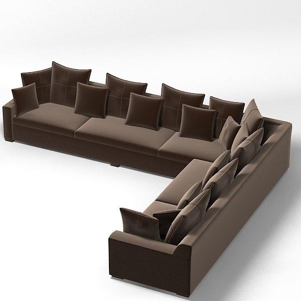 Ralph Lauren Contemporary Sectional Corner Sofa Modern Penthouse 141 D Z K L