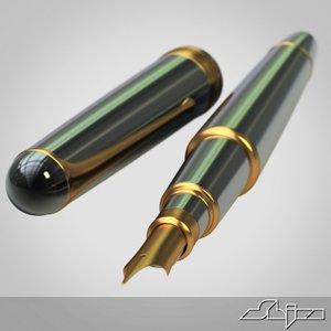 3d ink fountain pen