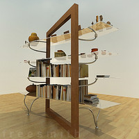 designed shelf 3d model