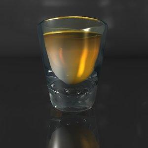 shot glass c4d