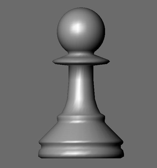 3d chess piece model