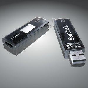 3ds max memorystick sandisk cruzer