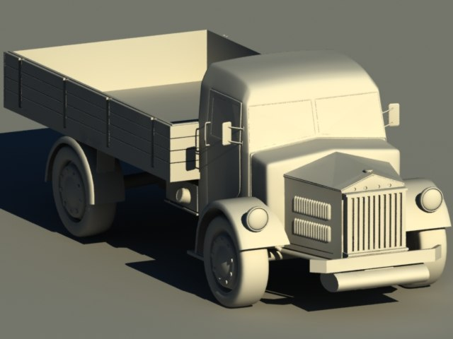 truck tatra27 3d model