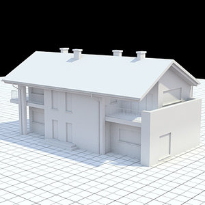 3ds max single-family house