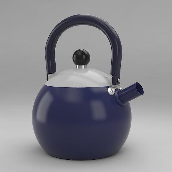 3d obj little tea maker