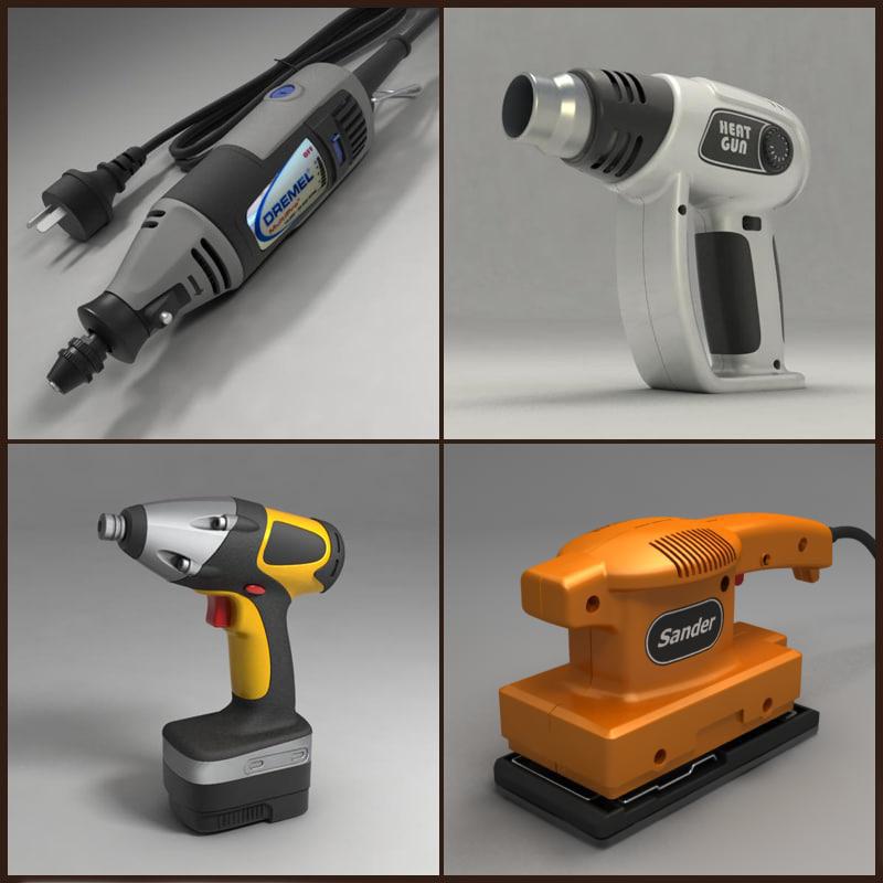 electric tools 3d model