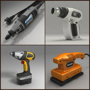 electric tools 3d model