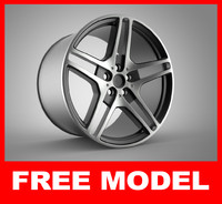 wheel alloy modeled max free