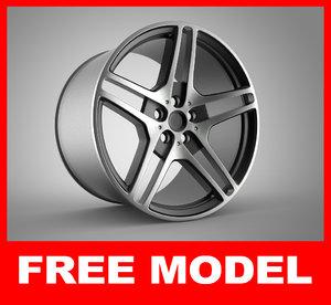 wheel alloy modeled max free