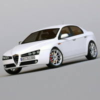 3d model italian sports saloon alfa romeo