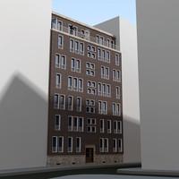 3d facade building residential