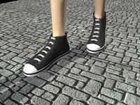 converse shoes c4d