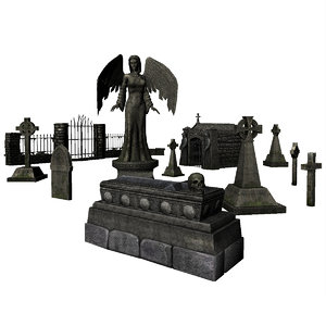 3d headstone tomb model