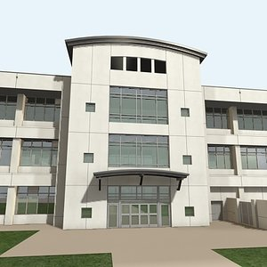 3d office building 5 model