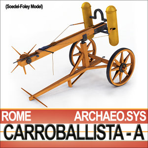 roman artillery carroballista w 3d model