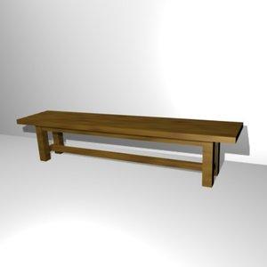 3ds retro farm bench