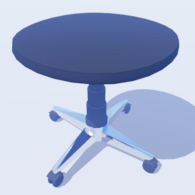 3d office stool model