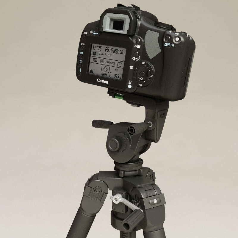 Canon EOS 400D and Tripod Slik Professional