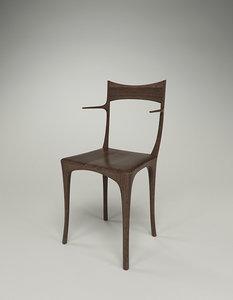 3d model ceccotti chumbera primera chair