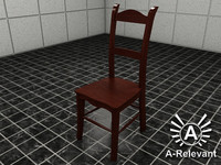 Chair 1 Wood - chair model - 3ds max 2010