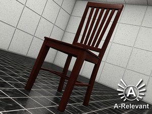 chair 2010 2 wood 3d max