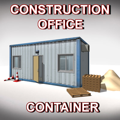 construction office container 3d model