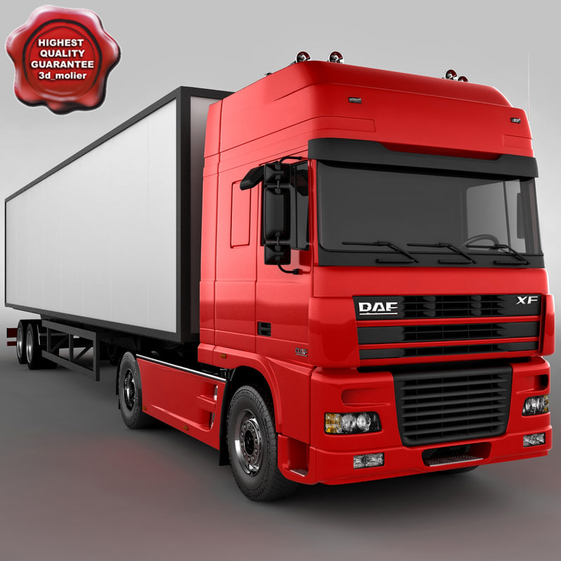 daf xf truck 3d model