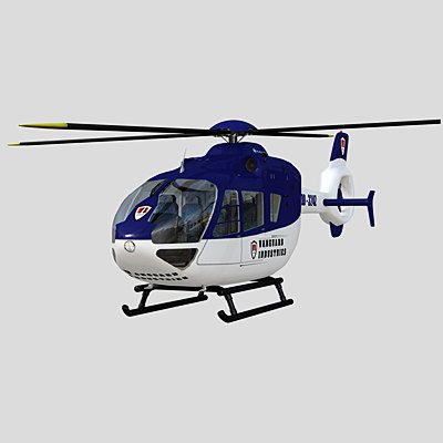 helicopter eurocopter ec 135 3d model