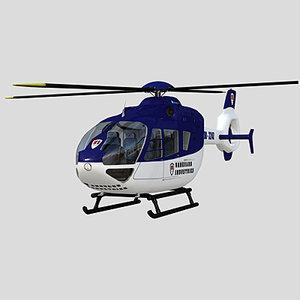 helicopter eurocopter ec 135 3d model