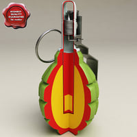 grenade f 1 cut away c4d