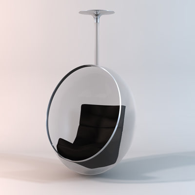 3d 3ds hanging ball chair