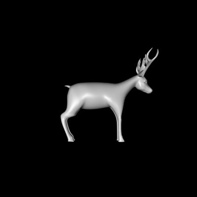 deer doe buck 3d model