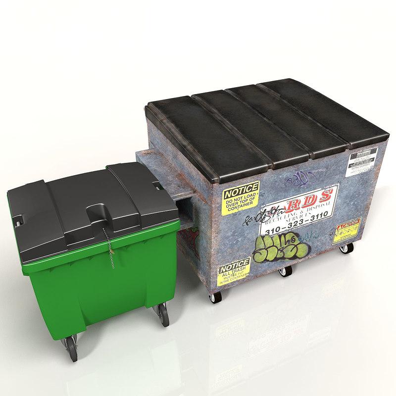 3d industrial bin model