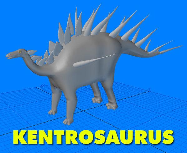3ds max kentrosaurus