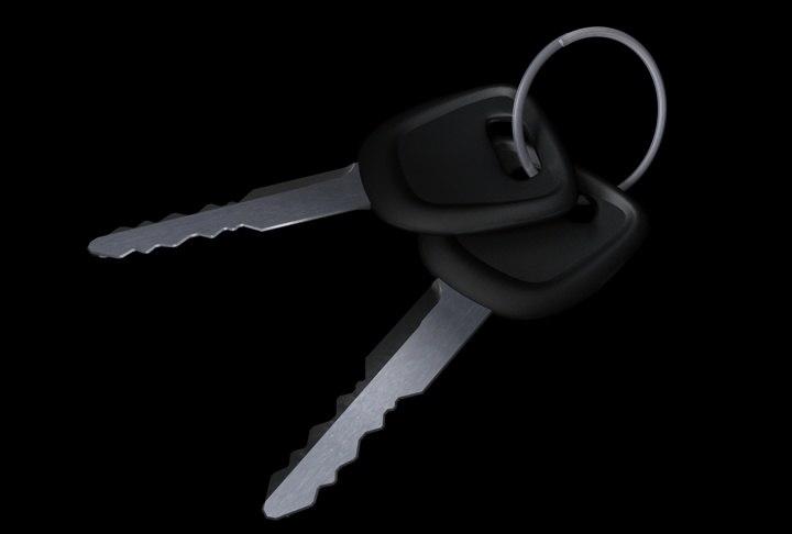 3d car keys ring model
