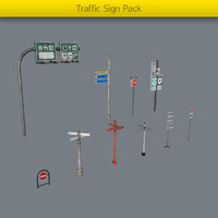 3d model pack traffic signs