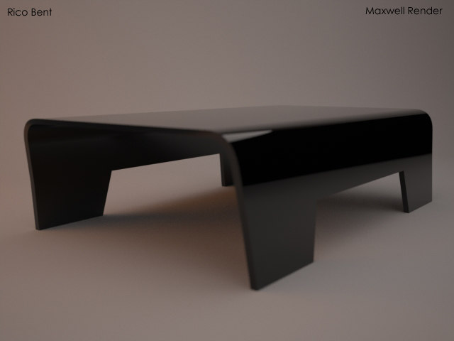 rico coffee table bent 3d model