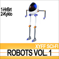 3ds max xyff robots sci-fi vol