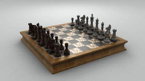 wooden chess set max