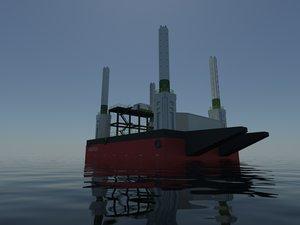 barge jack 3d model