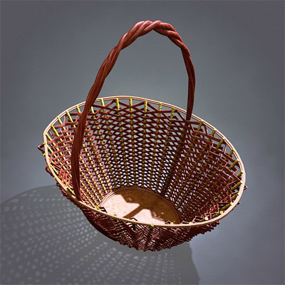 wicker basket 3ds