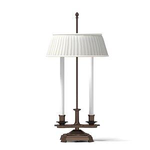 baker table lamp 3d model