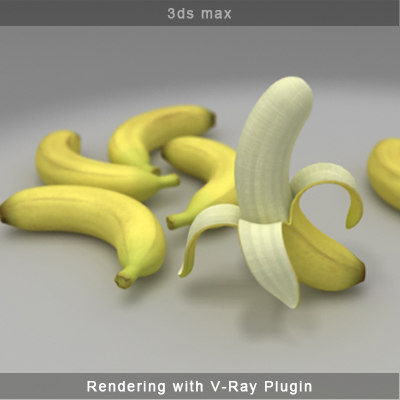 banana fruit 3d model