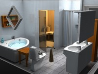 bathroom sauna 3d model