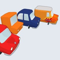 maya cartoon car -